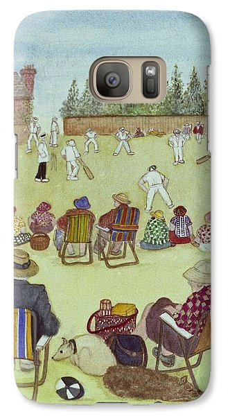 Cricket On The Green, 1987 Watercolour On Paper Galaxy S7 Case by Gillian Lawson