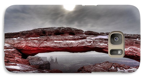 Galaxy Case featuring the photograph Crimson Arch by David Andersen
