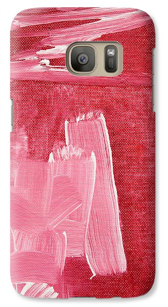 Galaxy Case featuring the painting Crimson Narrative  C2013 by Paul Ashby