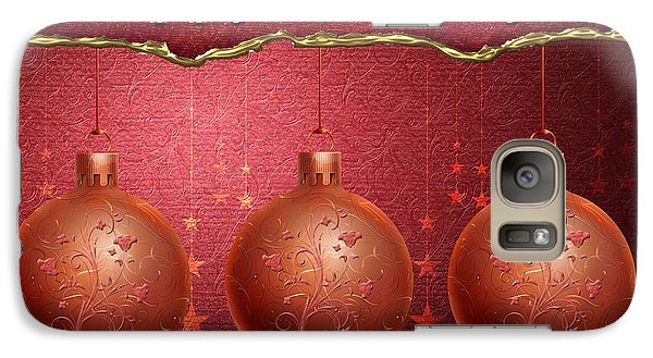 Galaxy Case featuring the digital art Crimson Ornaments by Arline Wagner