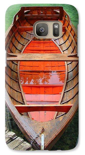 Galaxy Case featuring the photograph Croatian Rowboat by Ramona Johnston