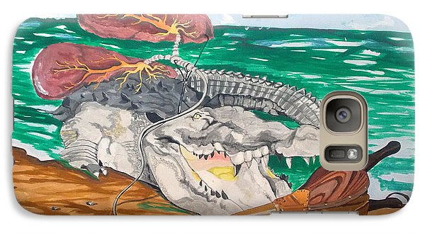 Galaxy Case featuring the painting Crocodile Emphysema by Lazaro Hurtado