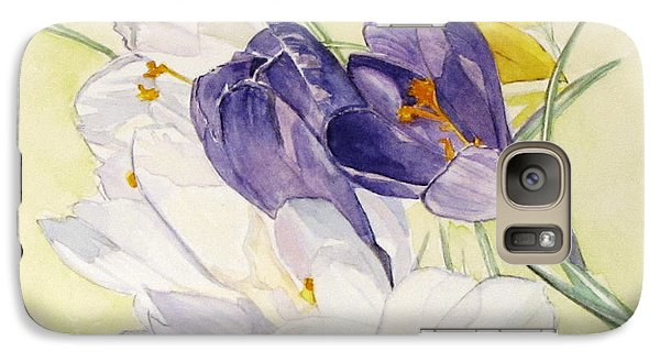 Galaxy Case featuring the painting Crocus by Carol Flagg