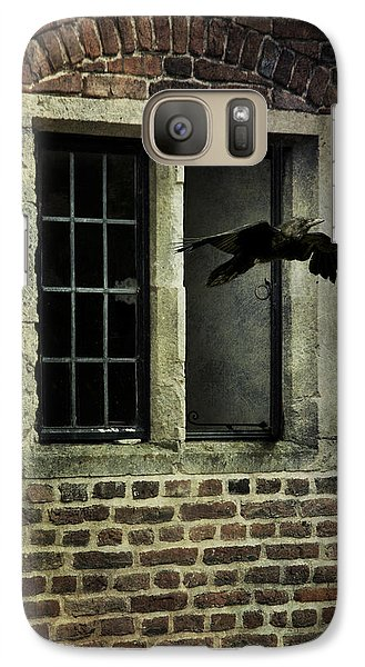 Galaxy Case featuring the photograph Croe Flying Out Of  Window by Ethiriel  Photography