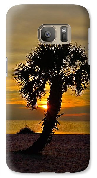 Galaxy Case featuring the photograph Crooked Palm Sunset by Richard Zentner