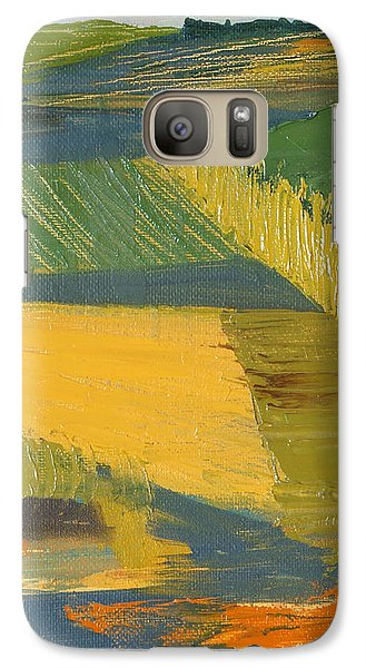 Galaxy Case featuring the painting Crop Fields by Erin Fickert-Rowland