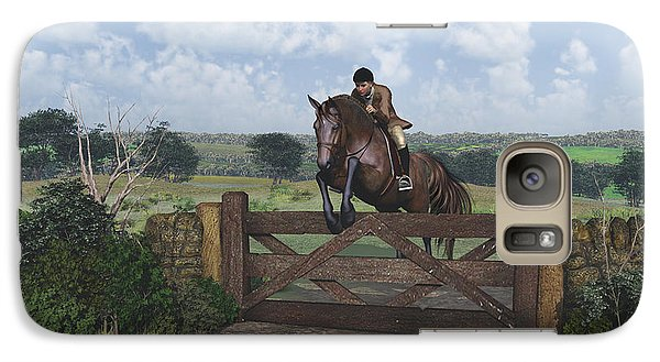 Galaxy Case featuring the digital art Cross Country by Jayne Wilson