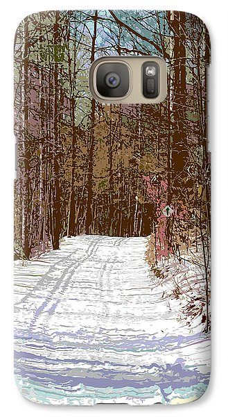 Galaxy Case featuring the photograph Cross Country Trail by Nina Silver