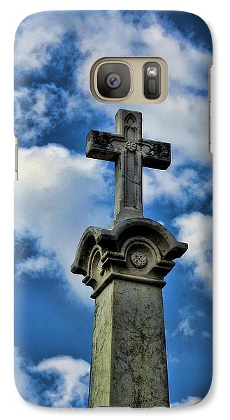 Galaxy Case featuring the photograph Cross Face 3 by Lesa Fine