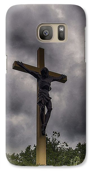 Galaxy Case featuring the photograph Cross In The Woods  by JRP Photography