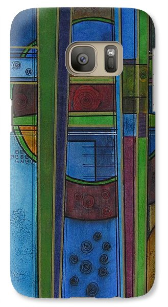 Galaxy Case featuring the painting Cross Roads by Nicole Nadeau