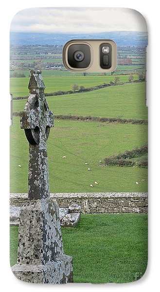 Galaxy Case featuring the photograph Crosses Of Cashel by Suzanne Oesterling