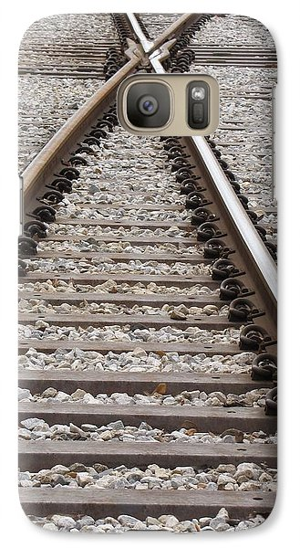 Galaxy Case featuring the photograph Crossing by Beth Vincent