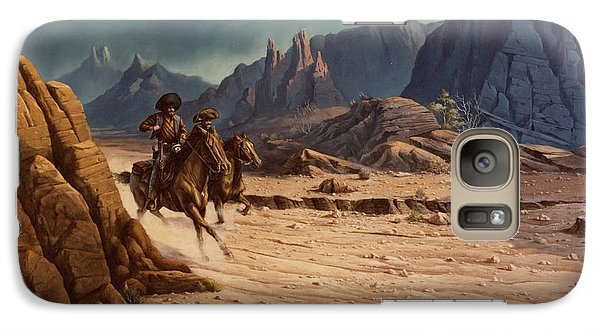 Galaxy Case featuring the painting Crossing The Border by Michael Humphries