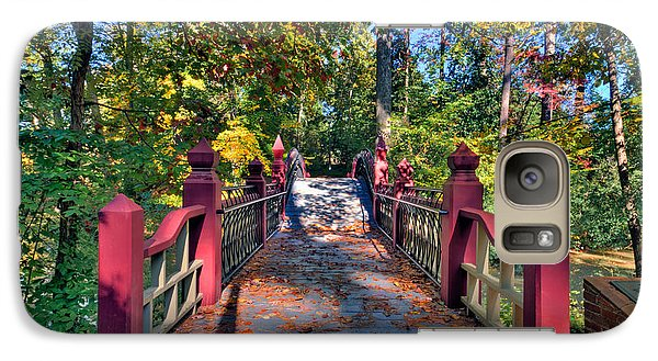 Galaxy Case featuring the photograph Crossing The Crim Dell Bridge by Jerry Gammon