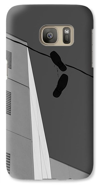 Galaxy Case featuring the photograph Crossing The Line - Urban Life by Steven Milner