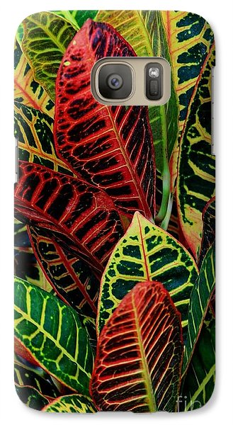 Galaxy Case featuring the photograph Croton Leafscape by Larry Nieland