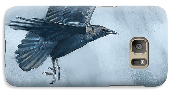Galaxy Case featuring the digital art Crow by Aaron Blaise