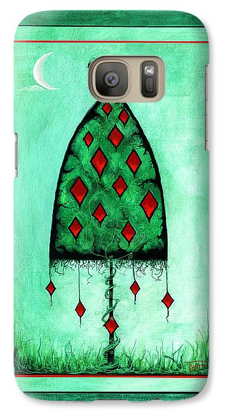 Galaxy Case featuring the mixed media Crow Dreams 2 by Terry Webb Harshman