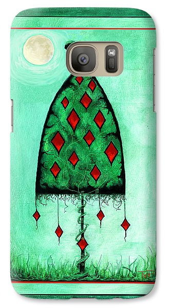 Galaxy Case featuring the mixed media Crow Dreams by Terry Webb Harshman