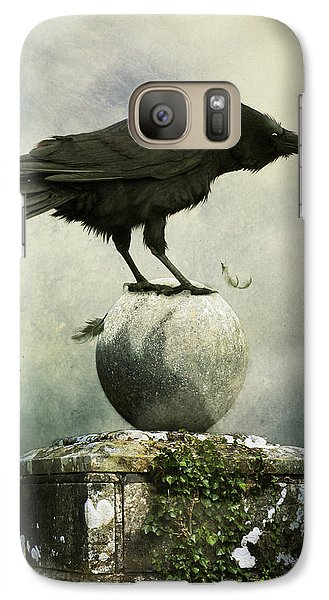 Galaxy Case featuring the photograph Crow  by Ethiriel  Photography
