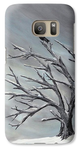 Galaxy Case featuring the painting Crow In Tree by Jesslyn Fraser
