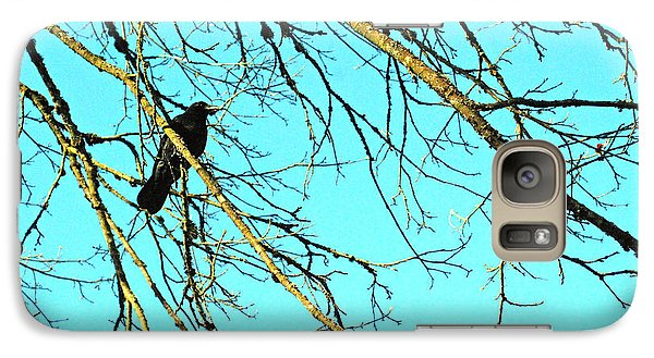 Galaxy Case featuring the photograph Crow by Kjirsten Collier