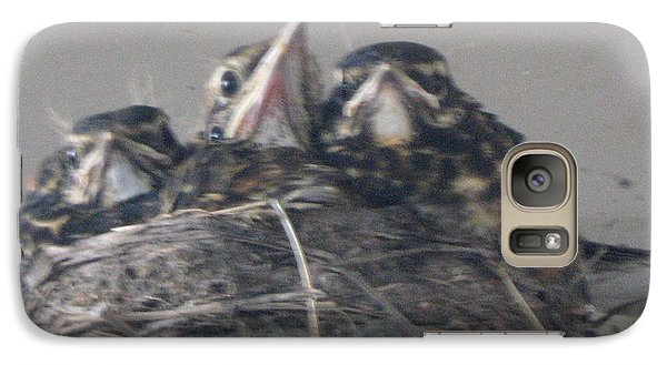 Galaxy Case featuring the photograph Crowded Nest by Wendy Coulson