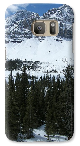 Galaxy Case featuring the photograph Crowfoot Mountain - Canada by Phil Banks