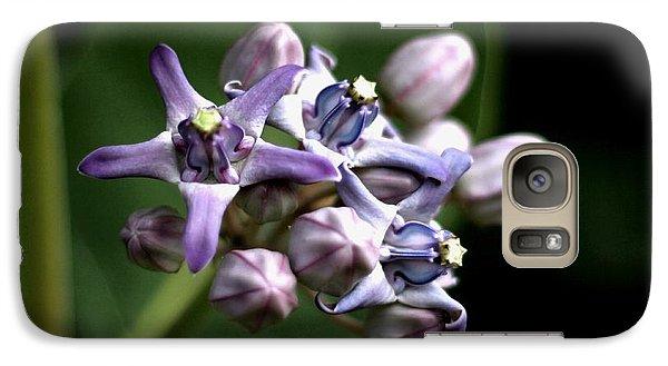 Galaxy Case featuring the photograph Crown Flower - Purple by Ramabhadran Thirupattur
