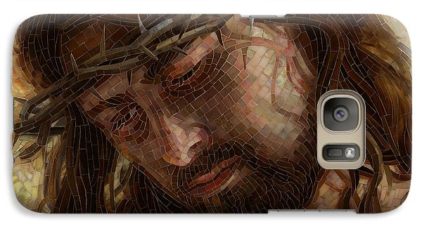 Galaxy Case featuring the painting Crown Of Thorns Glass Mosaic by Mia Tavonatti