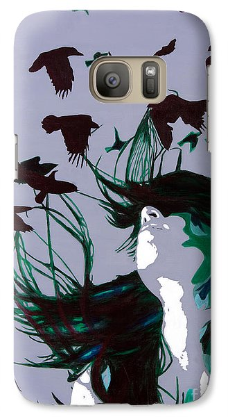 Galaxy Case featuring the painting Crows by Denise Deiloh