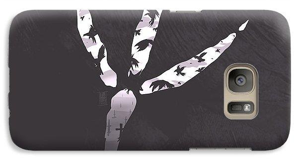Raven Galaxy S7 Case - Crow's Foot by Daniel Hapi