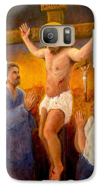 Galaxy Case featuring the painting Crucifixion by Donelli  DiMaria