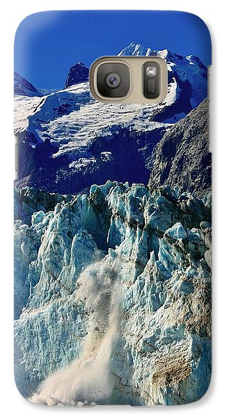 Galaxy Case featuring the photograph Crumbling Glacier by Henry Kowalski