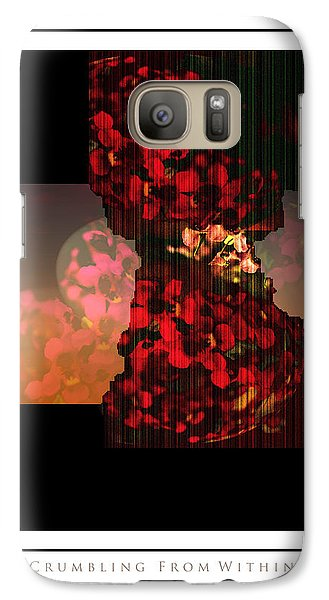 Galaxy Case featuring the photograph Crumbling by Steve Godleski