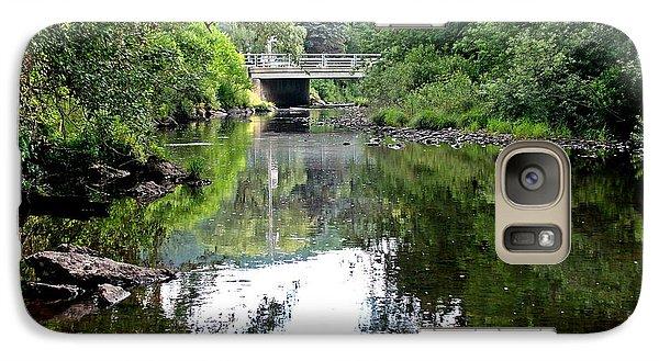Galaxy Case featuring the photograph Cryder Creek Bridge by Christian Mattison