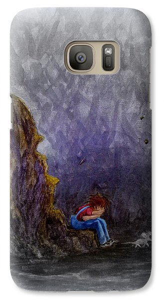 Galaxy Case featuring the painting Crying ... by Matt Konar