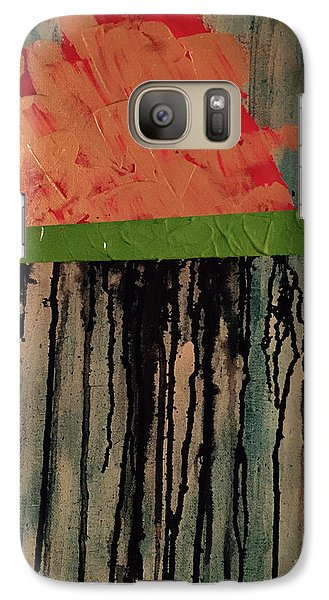 Galaxy Case featuring the painting Crying Brain Cloud by Theresa Kennedy DuPay