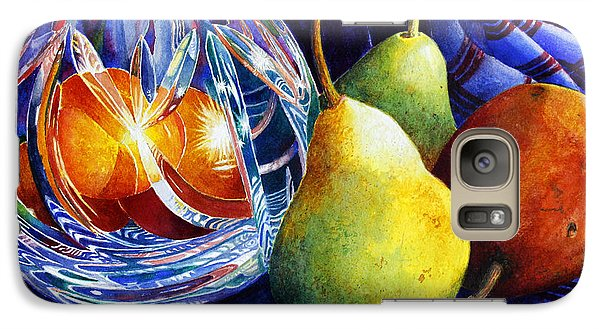 Galaxy Case featuring the painting Crystal And Pears by Roger Rockefeller