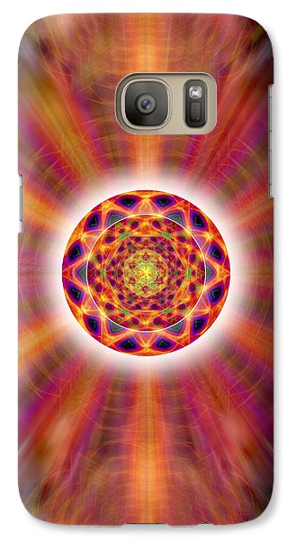 Galaxy Case featuring the drawing Crystal Ball Of Light by Derek Gedney