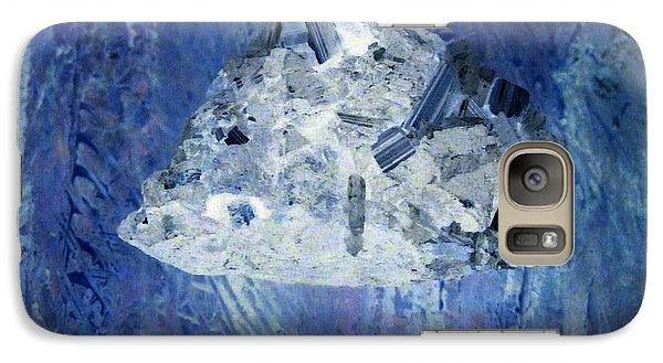 Galaxy Case featuring the mixed media Crystal Clear by Nancy Kane Chapman