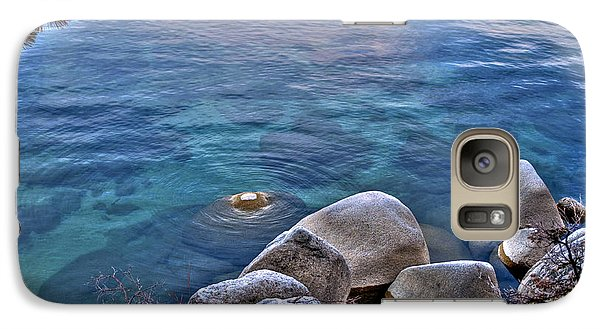 Galaxy Case featuring the photograph Crystal Clear Sand Harbor by William Havle
