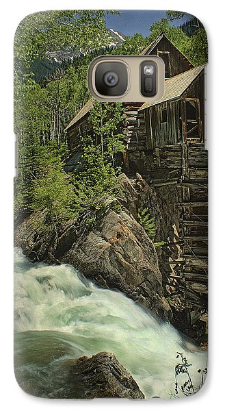 Galaxy Case featuring the photograph Crystal Mill by Priscilla Burgers