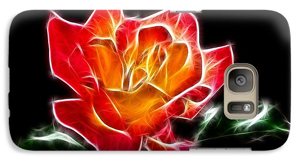 Galaxy Case featuring the photograph Crystal Rose by Mariola Bitner