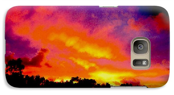 Galaxy Case featuring the photograph Crystal Sunrise by Mark Blauhoefer