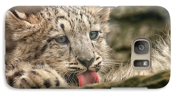 Galaxy Case featuring the photograph Cub And Tongue by Chris Boulton