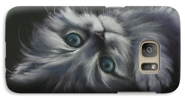 Galaxy Case featuring the drawing Cuddles by Cynthia House