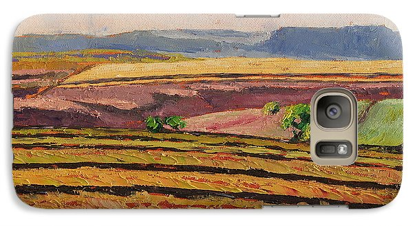 Galaxy Case featuring the painting Cultivated Fields Near Ficksburg South Africa Bertram Poole by Thomas Bertram POOLE