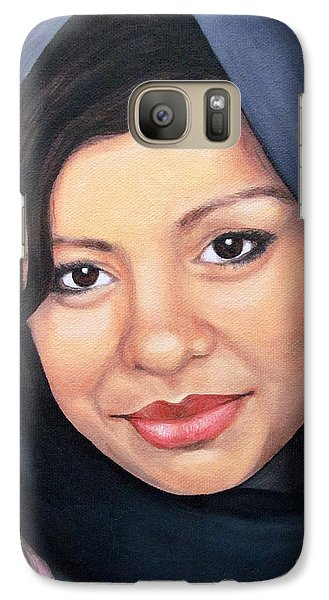 Galaxy Case featuring the painting Cultured Beauty by Malinda  Prudhomme